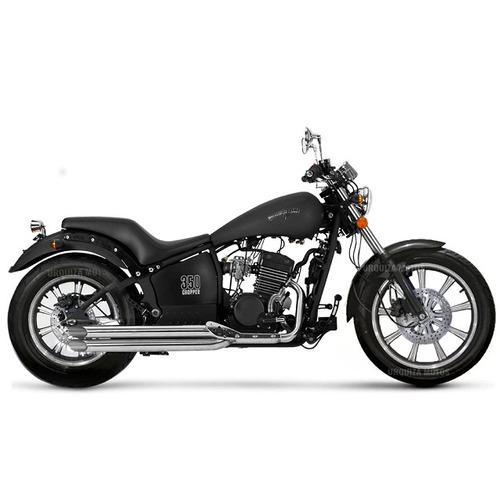 moto custom zanella chopper 350 llantas aleacion 0km