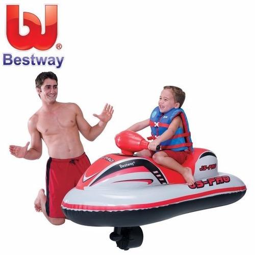 moto de agua inflable a baterias para niños marca bestway