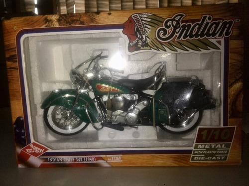 moto de coleccion inidan chief 348 (1948) 1/10 original