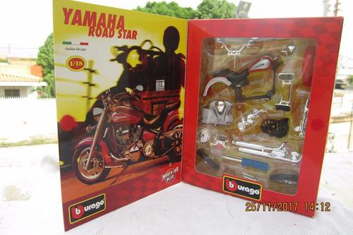 moto de colección yamaha road star escala 1:18