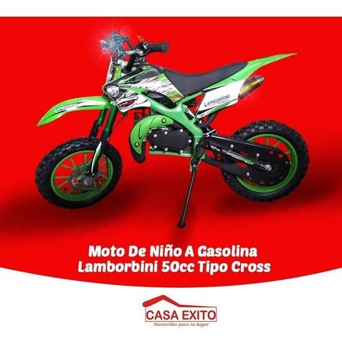moto de niño a gasolina lamborbini 50cc tipo cross