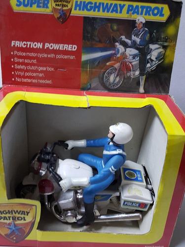 moto de policia highway patrol friction powered