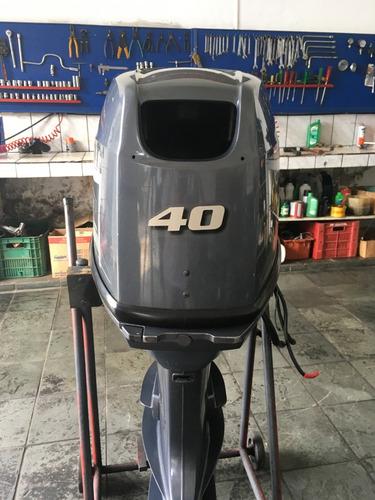 moto de popa yamaha 40 hp com partida elétrica - muito novo