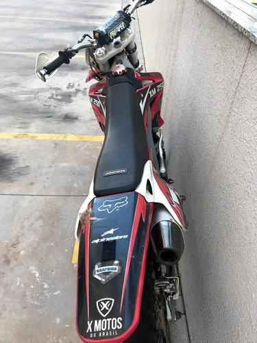 moto de trilha xm250r 4 tempos ignição eletrica e pedal