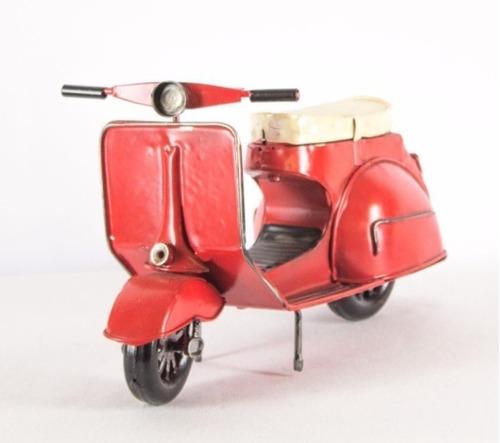 moto decorativa antigua de metal para repisa hogar oficina