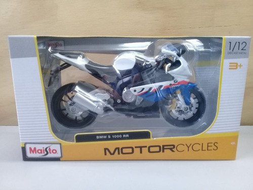 moto deportiva bmw s1000rr escala 1/12, 18cms de largo.