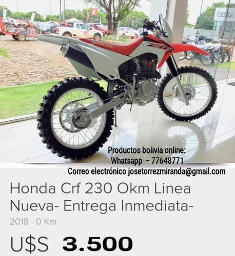moto deportiva cfr 230 modelo 2018 del año