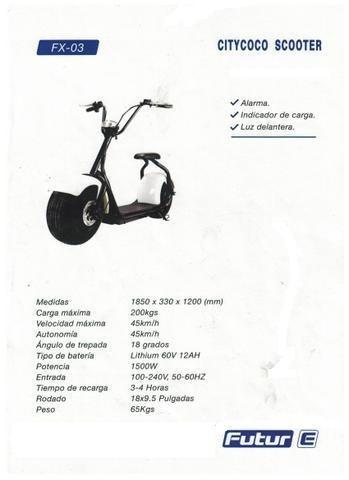 moto electrica 1500w futur e fx-03 0 km ap motos