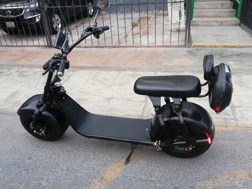 moto electrica chopper amortiguación delantera y trasera