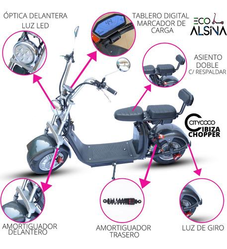 moto electrica chopper ibiza - citycoco - eco alsina