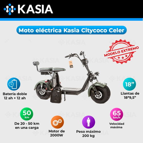 moto electrica citycoco kasia celer bateria calidad