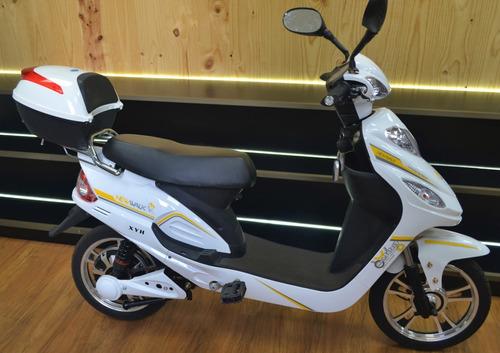 moto electrica e-bike xyh blanca
