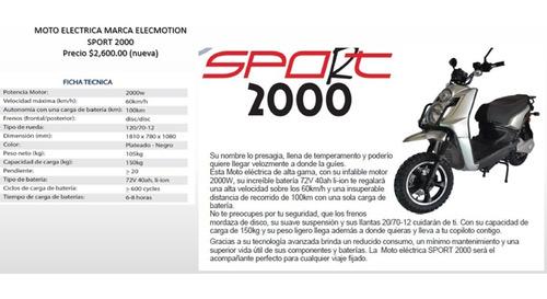 moto electrica elecmotion sport 2000