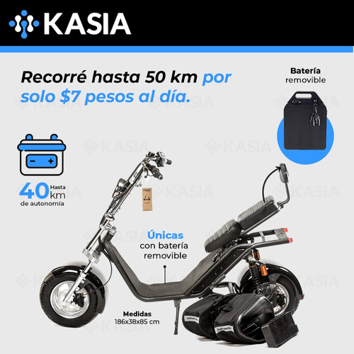 moto electrica kasia citycoco fortimus 2000w 20ah