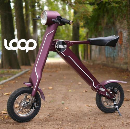 moto eléctrica loop plegable 100% financiada