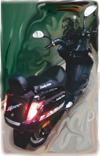 moto electrica lucky lion 500w 60v usada con garantia bs as
