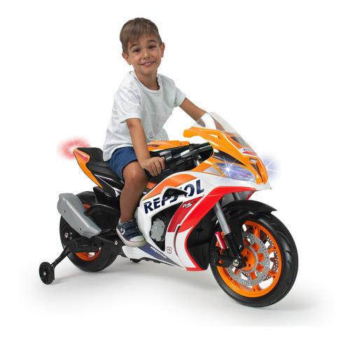 moto electrica montable infantil honda repsol 12v injusa