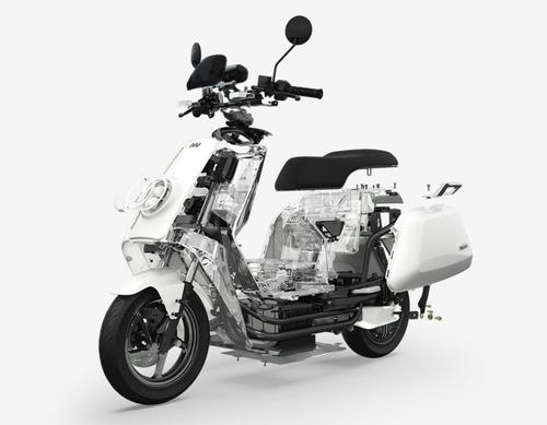 moto eléctrica niu nqi sport - roja