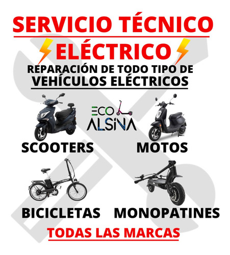 moto eléctrica no sunra grace / alarma usb/ servicio técnico