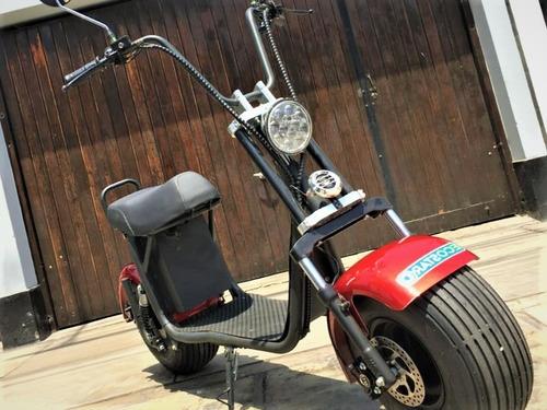 moto eléctrica roja - wolf 5.2