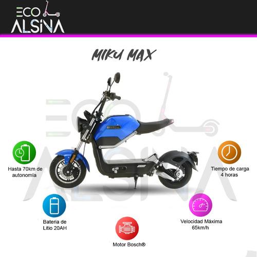 moto electrica sunra miku max / bateria litio 20 ah