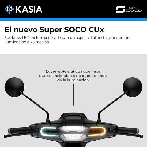 moto electrica super soco cux bateria inteligente bms