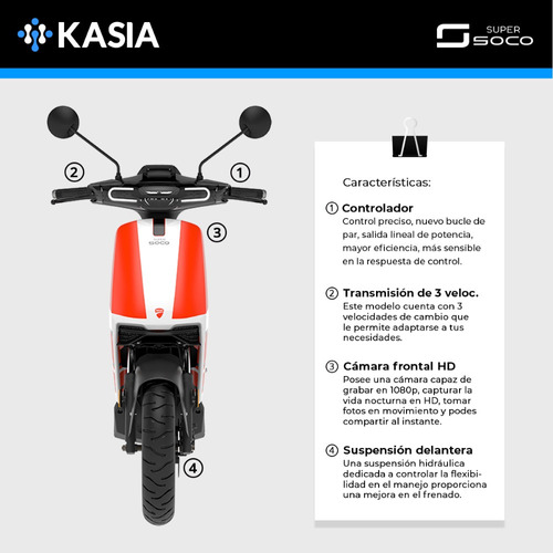 moto electrica super soco cux ducati edicion especial