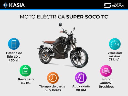 moto electrica super soco tc original bosch 3000w