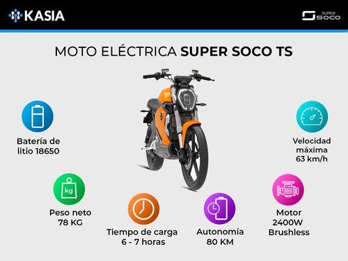 moto electrica super soco ts 20ah bateria lg