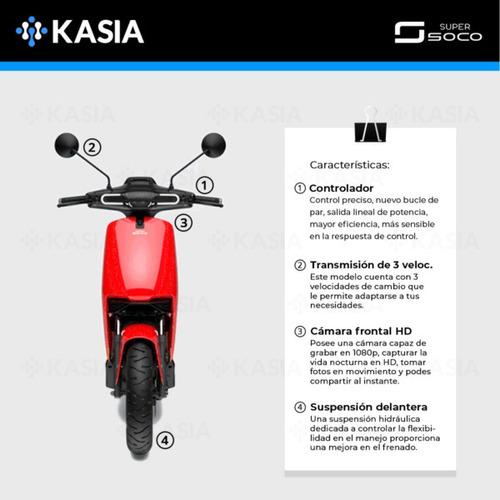 moto electrica supersoco cux velocidad maxima 63km/h