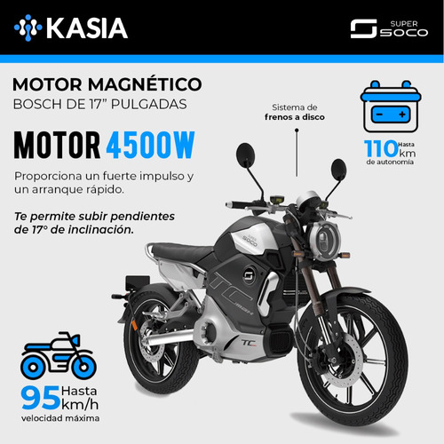 moto electrica supersoco tc max motor 4500w 45ah