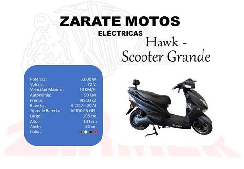 moto eléctrica, u$d 1.900 - zarate campana tel 3487-346275
