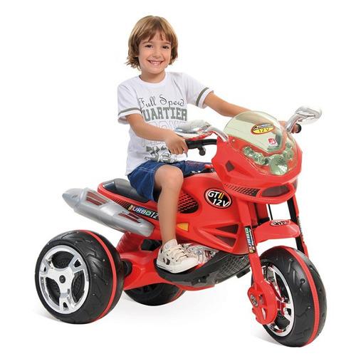 moto elétrica infantil super moto gt2 bandeirante 12v turbo