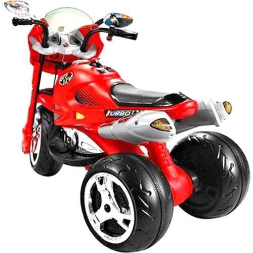 moto elétrica infantil super moto gt2 turbo vermelha 12v -