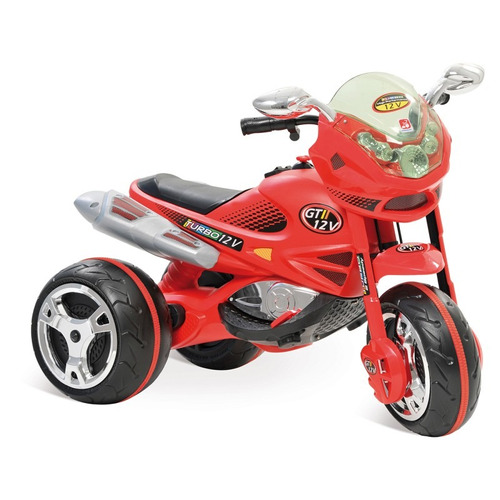 moto elétrica infantil super moto gt2 turbo vermelha 12volt