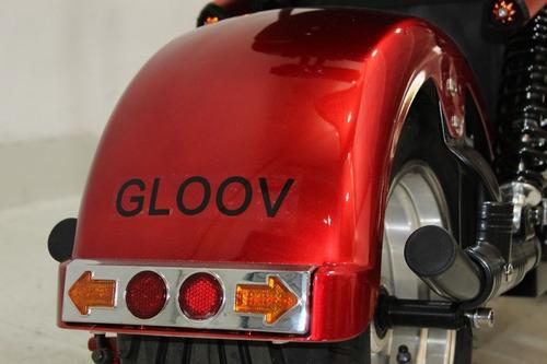 moto elétrica scooter gloov s6 2019 vermelha 0 km
