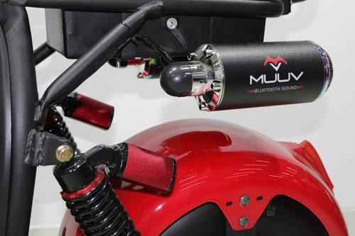 moto elétrica scooter muuv - custom s - 2019 vermelha