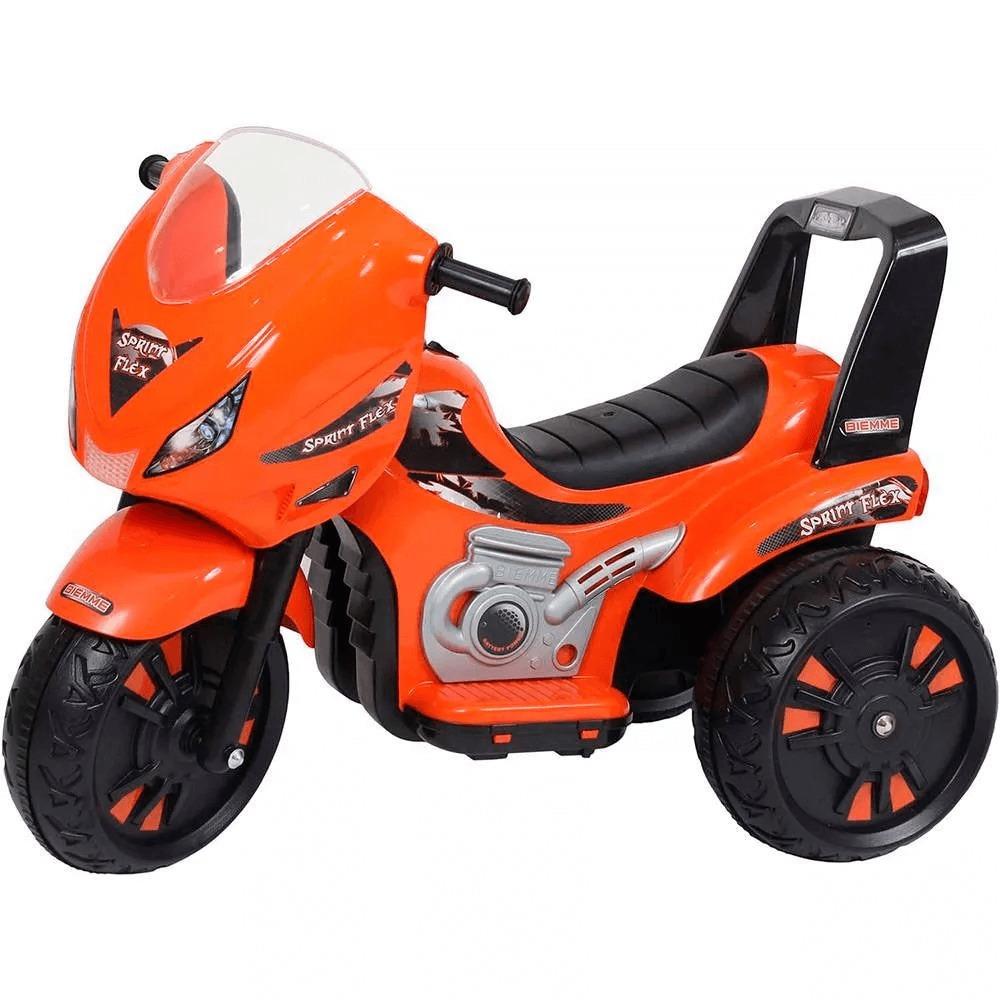 Moto Elétrica Triciclo 6v Sprint Flex Fa Laranja 195 Biemme