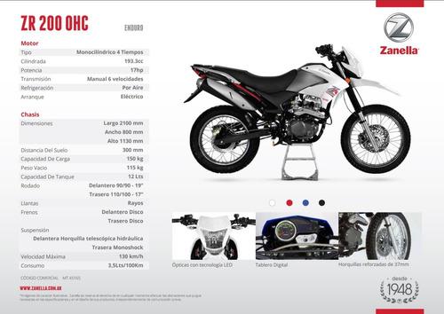 moto enduro zanella 200