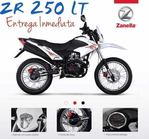 moto enduro zanella zr 250 0km 2017