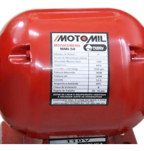 moto esmeril 360w - 220v motomil-mmi50