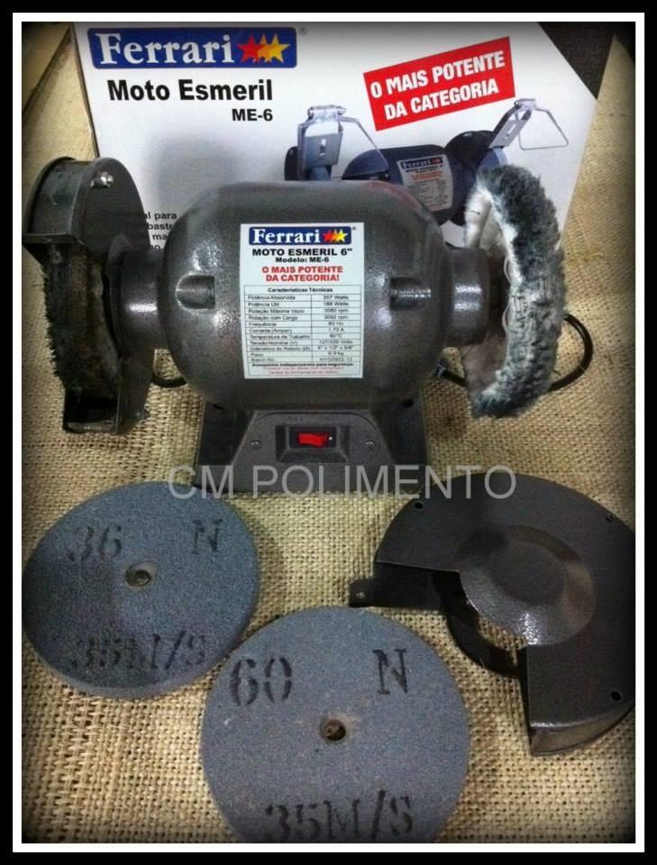 c5ae419c7be Moto Esmeril Bancada Me6 Ferrari + Brinde Cm - R  198