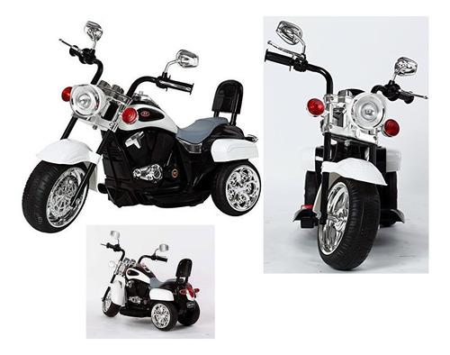 moto estilo harlem c/sonido/ mp3 tr1501r/c blanca icb techno