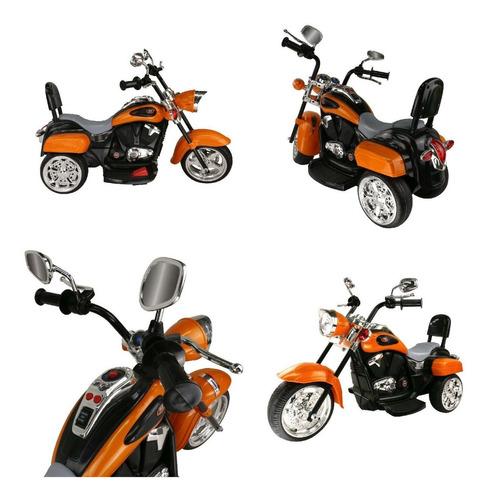 moto estilo harlem c/sonido/ mp3 tr1501r/c naranja icb techs