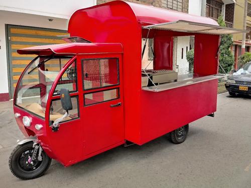 moto food truck eléctrica ahorrador