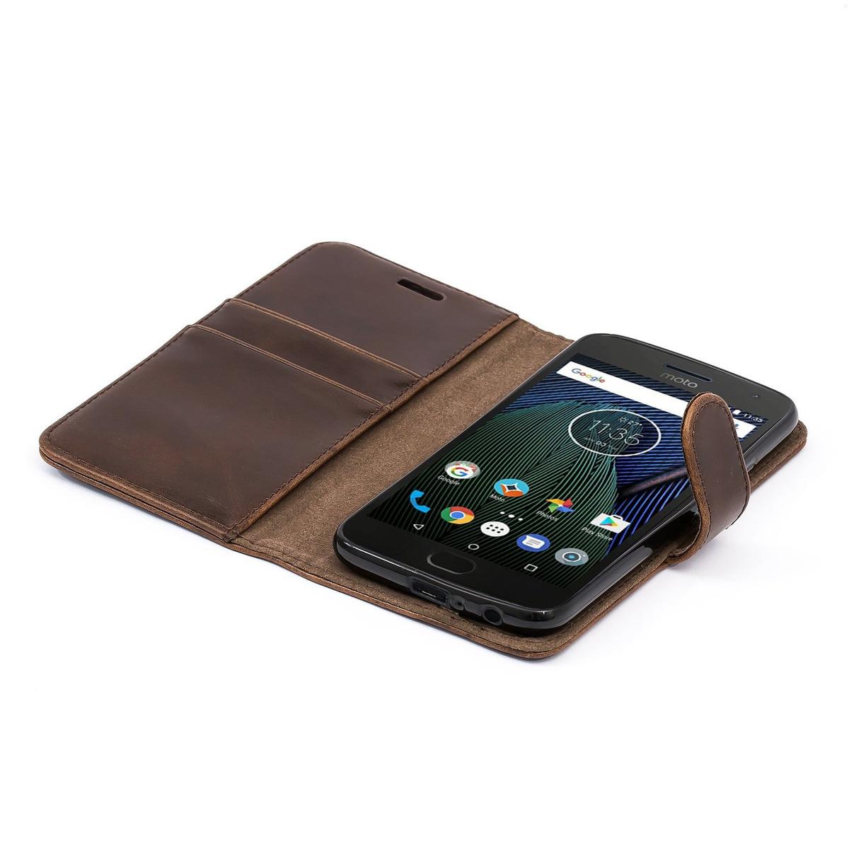 Fundas cartucheras Funda Mvil Motorola Moto G4 Plus Marrn Funda ...