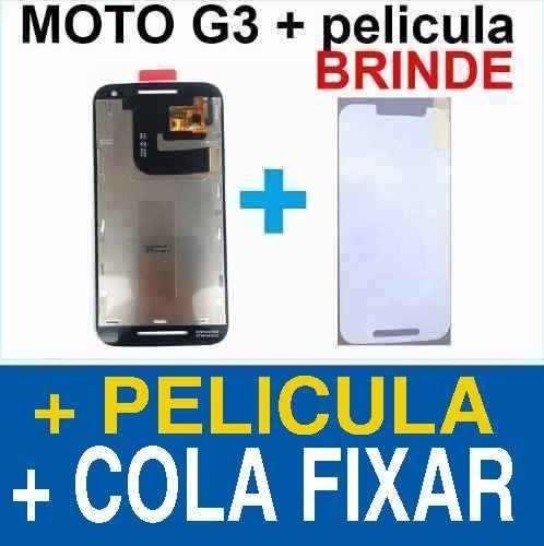 moto g3 tela touch display lcd xt1543 xt1544 xt1550 + cola