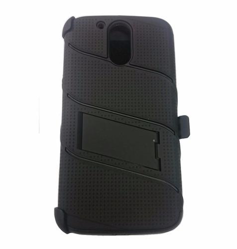 moto g4 plus xt1641 estuche case protector holster gancho