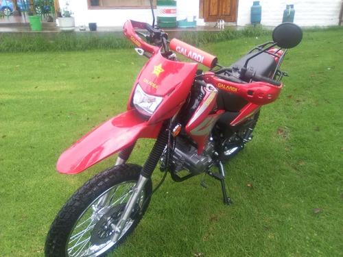 moto galardi gl200tt año 2019 200cc color negro-rojo-plata