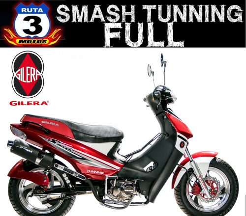 moto gilera smash 110 tunning full 0km